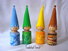 Four Season Gnomes   Winter Blues Spring by TheToadstoolForest