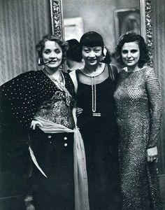 Marlene Dietrich, Anna May Wong y Leni Riefenstahl, 1928