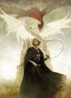 Prophecy of Merlin: The white and the red dragons. Both bloodlines unite in the one true king.