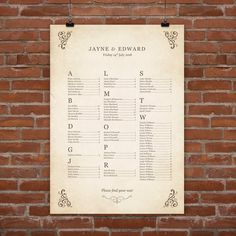 Storybook Personalised Wedding Seating Plan Printable Also Available