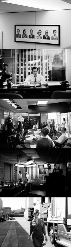 Behind the scenes photography from James Minchin III on the set of Mad Men. ( link ::  http://www.jamesminchin.com/index2.php#Stills.Mad_Men/ : )