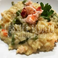 Extra Counter Space: Lobster Risotto with Roasted Asparagus