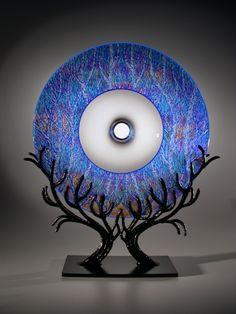 """Tree Portal in Blue 10-26-14, 2014""   David Schwarz   Laura Russo Gallery"