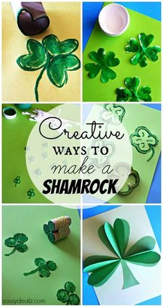List of Shamrock Crafts to Make - St. Patrick's Day crafts for kids! CraftyMorning.com