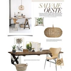 Salvaje Oeste by barngirl on Polyvore featuring interior, interiors, interior design, home, home decor, interior decorating, Andrew Martin, Selamat Designs, Natural Curiosities and French Connection