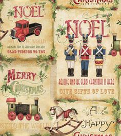 Holiday Inspirations Fabric- Susan Winget Vintage Toy Shop Patch