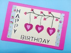 A #handmadecard is indeed the sweetest present for a friend or family member's birthday. #diycard #diybirthdaycard #crafts Diy Cards, Presents, Birthday, Frame, Sweet, Crafts, Home Decor, Gifts, Picture Frame