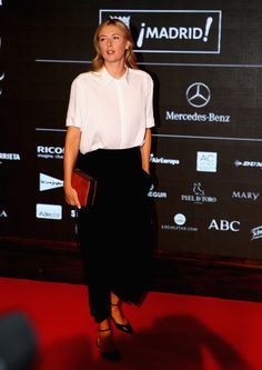 Mutua Madrid Open - Day Two - Maria Sharapova of Russia arrives at the player party during day two of the Mutua Madrid Open tennis tournament at the Caja Magica on May 3, 2015 in Madrid, Spain.
