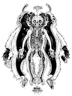 very detailed but color would do this illustration some justice, it would bring out the true essence of the organs and skin and even bone