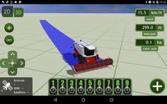 MachineryGuide harvester 3D model with visual section control  #MachineryGuide #models #harvester #guidance #application #agriculture