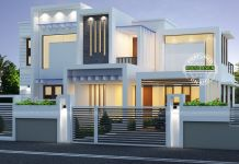 Nice Contemporary Box Type White Home 2224 Sq Ft