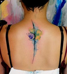 60 Awesome Watercolor Tattoo Designs – For Creative Juice Back Tattoo Women, Back Tattoos, Great Tattoos, Beautiful Tattoos, Body Art Tattoos, Tattoos For Women, Awesome Tattoos, Tatoos, Sexy Tattoos