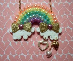 love over the rainbow necklace by aselfportrait on Etsy, $21.00
