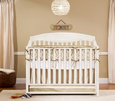 """Sydney"" crib/bed from Bellini in antique white"
