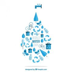 Vector World Water Day
