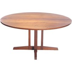 the Frenchman's Cove Round Table by George Nakashima | From a unique collection of antique and modern dining room tables at https://www.1stdibs.com/furniture/tables/dining-room-tables/