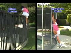 Removable Pool Fence removable swimming pool fence with self-latching gate, from
