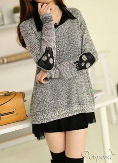 Sweater asimétrico parches calaveras: http://www.porporacr.com/producto/sweater-asimetrico-parches-calaveras/