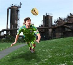 Guess where Roger is for a chance at two tickets to see the Sounders FC and win a case of Wonderful Pistachios! Enter here: http://www.soundersfc.com/news/promotions/wonderful-pistachios.aspx