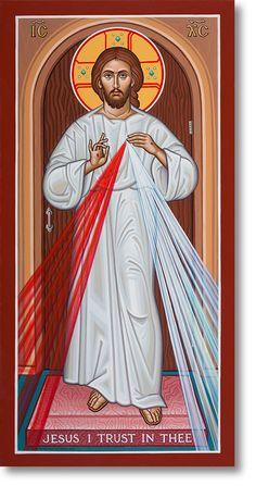 Divine Mercy original icon 20' tall