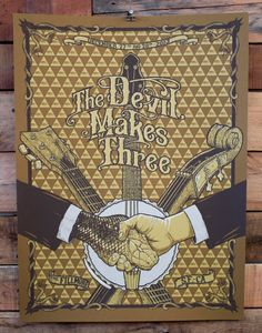 The Devil Makes Three poster by HamfistIntl on Etsy