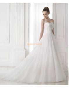 Robe de mariée tulle avec bustier en coeur 2015                                                                                                                                                                                 Plus