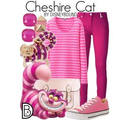 Cheshire Cat by leslieakay on Polyvore featuring Uniqlo, Kenzo, Converse, Valentino and Kate Spade #disney #disneybound