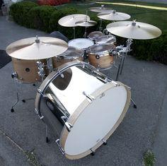 Ron Dunnett's personal drum kit....pretty sweet!
