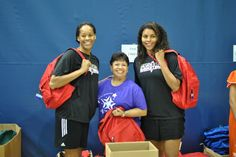 Tangela Smith and Ziomara Morrison passed out school supplies to east side children at Antioch Community Center. Wnba, East Side, School Supplies, Community, News, Children, Sports, School Stuff, Young Children