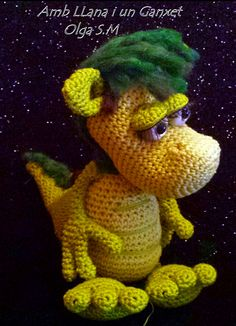 "Dragón Tanian Amigurumi - Patrón Gratis en Español - Versión en PDF - Click ""download"" o ""free Ravelry download"" aquí: http://www.ravelry.com/patterns/library/tanian-y-natian-los-dragones"