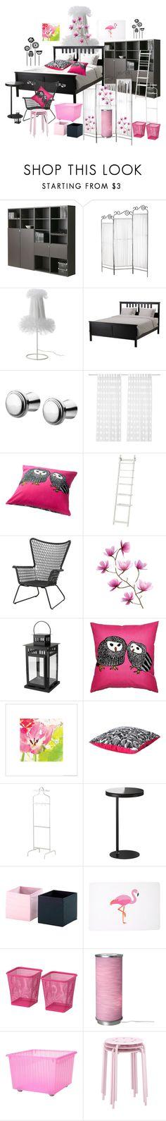 IKEA by ragnhild-bergan on Polyvore featuring interior, interiors, interior design, home, home decor, interior decorating and Black Poppy