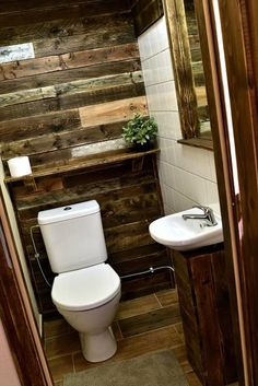 Pallet bathroom ideas sure can be made at home in some sort of do it yourself project, and they can look great in different styles of decor. Outdoor Bathrooms, Rustic Bathrooms, Small Bathroom, Bathroom Ideas, Modern Bathroom, Tiny Bathrooms, Bath Ideas, Bathroom Designs, Bathroom Remodeling