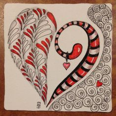 Zentangle Hearts Instructions | Art: Zentangle Heart