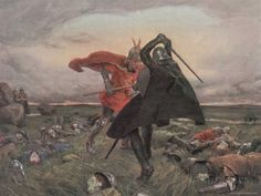 The Battle Between King Arthur and Sir Mordred by William Hatherell