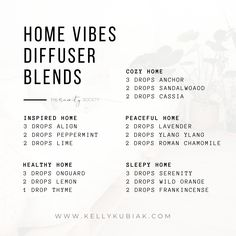 Essential Oil Education + DIY Blends + Recipes – Kelly Kubiak Diy Essential Oil Diffuser, Essential Oils Guide, Essential Oil Uses, Doterra Essential Oils, Doterra Diffuser, Aromatherapy Diffuser, Coconut Essential Oil, Room Scents, Crystal Guide