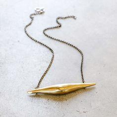 Ariana Boussard-Reifel Marie Bonaparte Horizontal Necklace in Brass