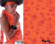Supremebeing: Womenswear. SS/2008. Print Direction and Design.  © Mirella Bruno Print Designs. 2007.