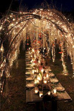 Amazing Enchanted Forest Decorations 50 Ideas Wedding Decor - Beauty of Wedding Wedding Scene, Wedding Night, Summer Wedding, Dream Wedding, Trendy Wedding, Wedding Beach, Glamorous Wedding, Autumn Wedding, Boho Wedding