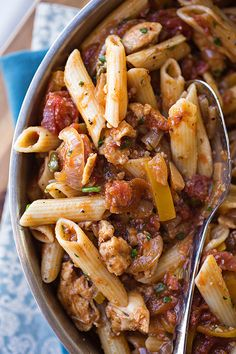 """#RECIPE - Lemony Chicken """"Picca-Tore"""" Pasta in a Wine Sauce with Fresh Herbs"""