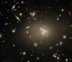 This detailed image features Abell 3827, a galaxy cluster that offers a wealth of exciting possibilities for study. Fotos Do Hubble, Cosmos, Edwin Hubble, Hubble Pictures, Other Galaxies, Hubble Images, Andromeda Galaxy, Hubble Space Telescope, Dark Matter