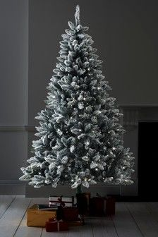 Snowy 7ft Lit Christmas Tree 200 Snowy Christmas Tree Christmas Decoration Items Shop Decoration