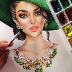 draw, girl, and illustration Bild Fashion Design Drawings, Fashion Sketches, Fashion Illustration Dresses, Fashion Illustrations, Illustration Mode, Face Sketch, Fashion Figures, Drawing Clothes, Hair Art