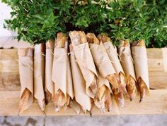 mini baguettes looks so cute wrapped and tied