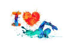 I Love Swimming Swimmer Of Splash Paint Wall Mural 117824994 Swimming Posters, Swimming Memes, Swimming Workouts, Swimming Tips, Swimming Tattoo, Swimming Pictures, Swimming Strokes, Harry Potter Painting, I Love Swimming