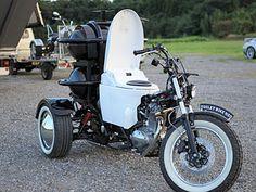 """Conheça o projeto """"Toilet Bike Neo"""". O veículo traz um banco onde o condutor senta, recolhe as fezes, que se transforma em combustível. O projeto faz parte de um desafio criado  por uma empresa japonesa para reduzir em 50% as emissões de CO2 ."""