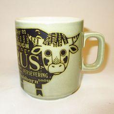 Vintage 1976 - Hornsea Mug - Zodiac - TAURUS - Clappison - Perfect - RETRO in Pottery, Porcelain & Glass, Pottery, Hornsea | eBay