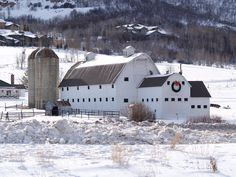 McPolin barn in Winter, Park City, Utah. (****See Other, Spring, Summer & Fall Pins. Country Barns, Old Barns, Country Roads, Country Life, Interesting Buildings, Beautiful Buildings, Old Buildings, Abandoned Buildings, Barn Pictures