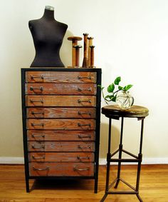 Industrial Hardware Cabinet, don't know what I would do with it, BUT I WANT IT!