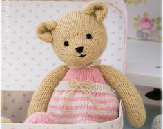 6 Teddy Bear variations/ Girl Bears/ Boy Bears/ Toy Knitting