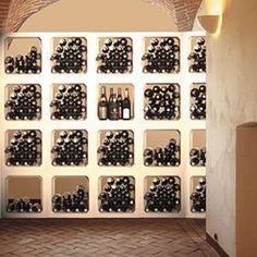 Stone wine rack ITALIA, bianco and terra